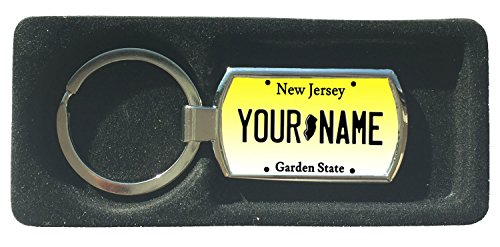 (BleuReign(TM) Personalized Custom Name New Jersey State License Plate Metal Keychain)