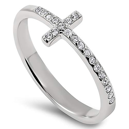 925 Steady Cross Silver Ring,
