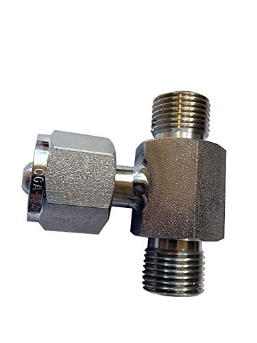 and Paint Ball Cascade Transfill Manifold Systems Breathing Air CGA-346 Stainless Steel Coupler Manifold Tee Y Adapter for Breathing Air SCBA Safety AIr Scuba