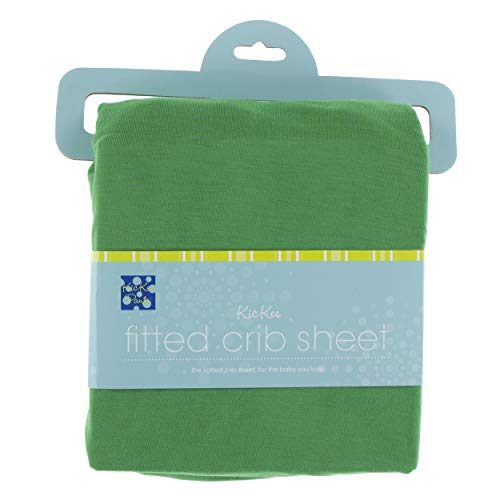 KicKee Pants Little Boys and Girls Solid Fitted Crib Sheet - Fern, One Size