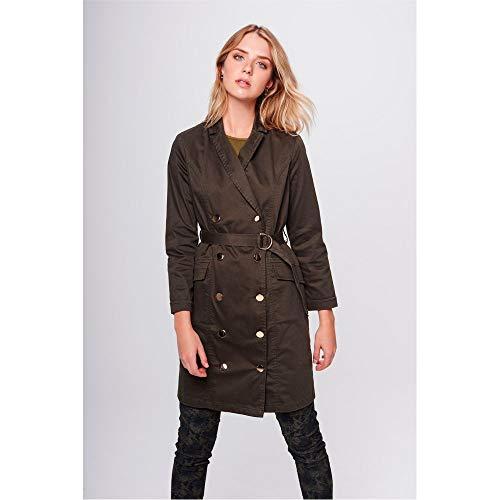 Trench Coat Feminino Tam: G/cor: Verde Militar