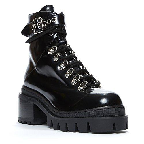 Jeffrey Campbell Czech' Black Box, Hiker Boot, (Jeffrey Campbell Rubber Boots)