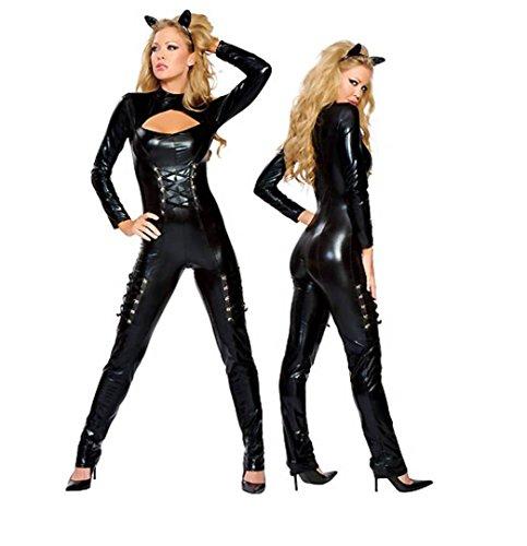 GGTBOUTIQUE Kleid schwarz Damen Linie schwarz A Bwr0tqB