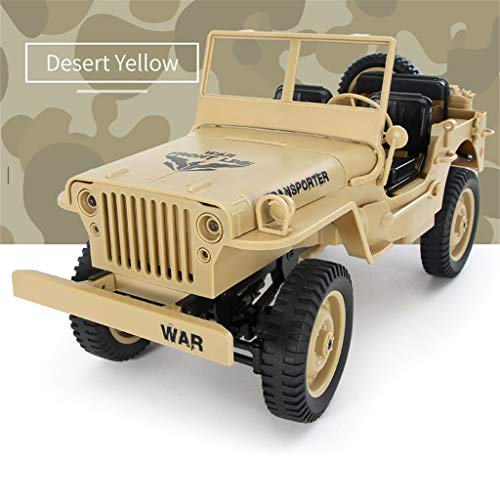 (DDLmax 1/10 2.4G RC Open Car Military Jeep Off-road 4WD Rock Crawler RTR Toy)