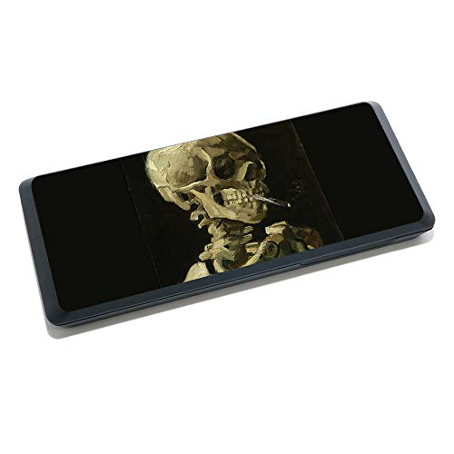 MightySkins Skin for Juul Portable Charging Case - Skull with Cigarette | Protective, Durable, and Unique Vinyl Decal wrap Cover | Easy to Apply, Remove, and Change Styles | Made in The USA