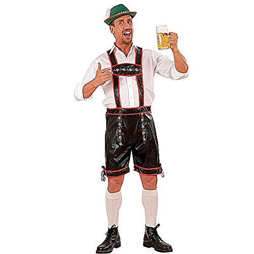XL Lederhosen L/look Costume Extra Large For 80s Film Tv Fancy Dress