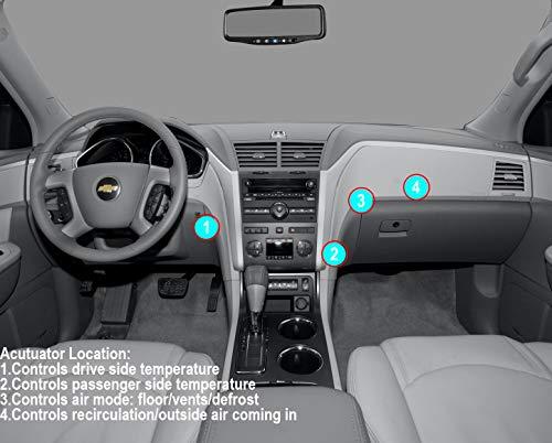 Air Door Actuator K140A for 2008-2012 Buick Enclave, 2009-2012 Chevy Traverse, 2007-2012 GMC Acadia, 2007-2010 Saturn Outlook Blend Door Actuator Replaces# 15-73989, 604-140, 20826182, 1573989 by KEDAKEJI (Image #1)