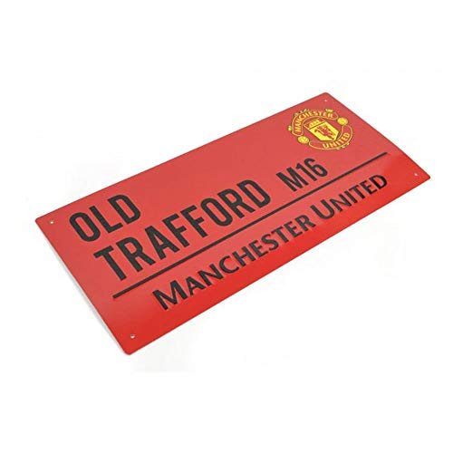 Manchester United Fc Authentic Red Old Trafford Street Sign