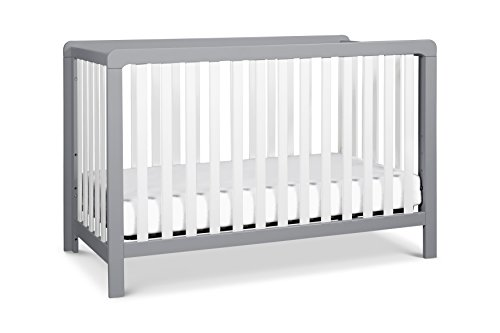 Carter's by DaVinci Colby 4-in-1 Low-Profile Convertible Crib, Grey and White ()