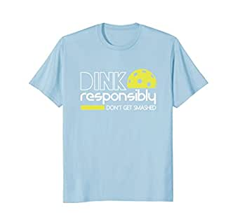 Mens Dink Responsibly Funny Pickleball T-Shirt 2XL Baby Blue