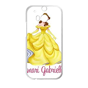 HTC One M8 Cell Phone Case White Beauty and the Beast Character Belle sxdv
