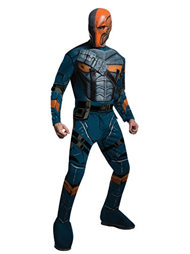 Rubie's Men's Batman Arkham City Deluxe Muscle Chest Deathstroke, Multicolor, Small -