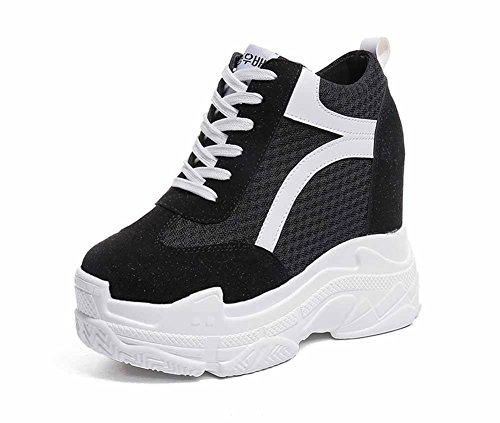 Color Grueso Black Creativo Aumentado Alto Mezclado Zapatos 2018 Tacón Zapatillas Plataforma Mujer TUFqxw7tU
