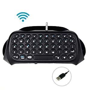 PS4 Keyboard,eTTgear Wireless Keyboard Gamepad Bluetooth Chatpad Message Cordless Playstation 4 Keyboard for PS4 Controller (Black)