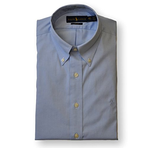 n Non-Iron Pinpoint Oxford Dress Shirt, Blue, 16, 32-33 ()