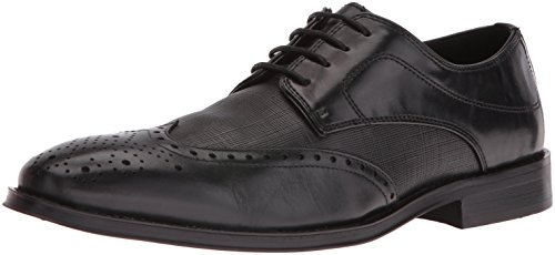 Steve Madden Hombres Winnow Oxford Black Leather