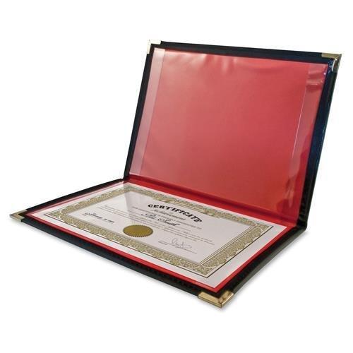 Anglers 204 Diploma/Certificate Holder 2 Pockets Vinyl 12''x9'' Black
