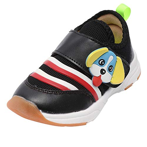 Price comparison product image Tronet Kids Boys Girls Cartoon Dog Sport Running Shoes,  Baby Winter Breathable Mesh Shoes Casual Sneakers (6.5(Age:2-2.5Years),  Black)