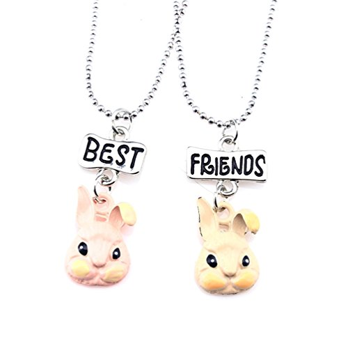 - Eaear Best Friend Cartoon Peter Rabbit Pendant Necklace Set for Girls Kid Teen Friendship Sister BFF for 2