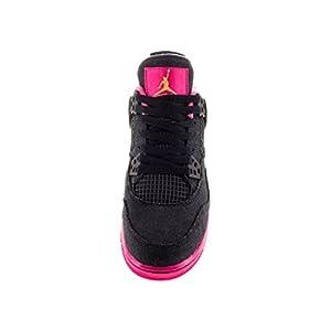 Nike Jordan Kids Air Jordan 4 Retro Gg Drk Obsdn/Mtllc Gld/Vvd Pnk/Wh Basketball Shoe 4 Kids US