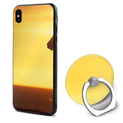 Sunset Orange Horse Beautiful Nature iPhone X Mobile Phone Shell Shell Ring Bracket Cover Cases ()