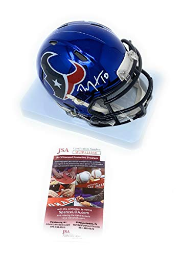 DeAndre Hopkins Houston Texans Signed Autograph CHROME Speed Mini Helmet JSA Witnessed Certified