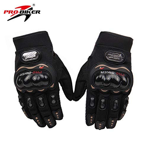 Probiker-Synthetic-Leather-Motorcycle-Gloves-Black-M
