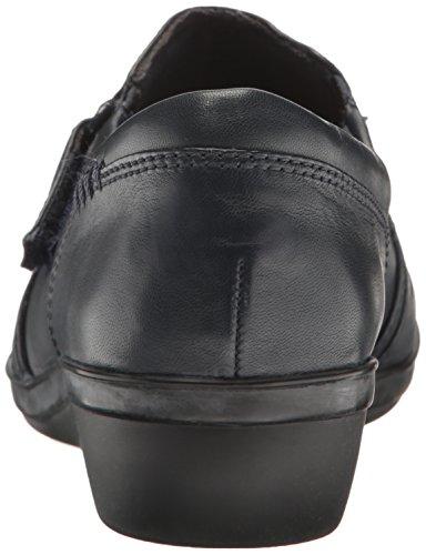 Clarks Womens Everlay Coda Flat Navy Leather