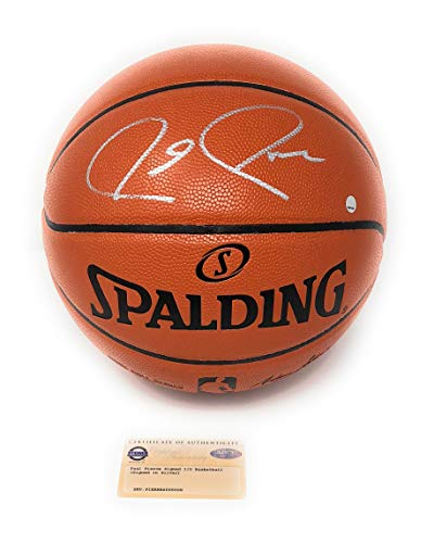 Paul Pierce Boston Celtics Signed Autograph NBA Game Basketball Silver Steiner Sports Certified