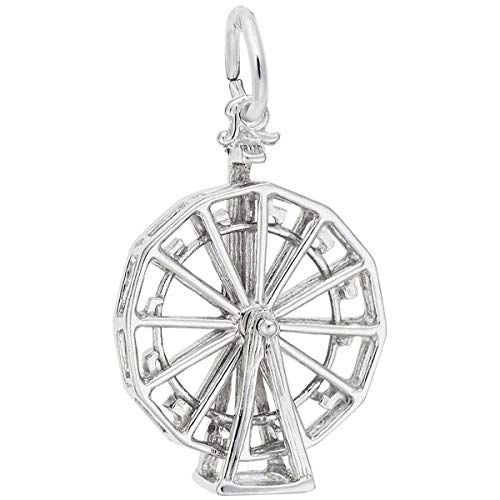 (Rembrandt Charms Ferris Wheel Charm, Sterling Silver)