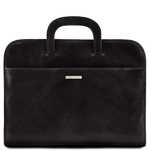 Leather Marron Foncé Porte Cuir Tuscany Noir En Serviette documents Sorrento PxndBvw