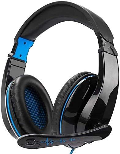 快適な 3.5ミリメートルゲーミングヘッドセットオーバーイヤーヘッドフォンコンピュータゲームスマートフォンPS4のゲームヘッドセットのための互換性の調節可能なマイク付きステレオイヤホン音楽 ヘッドセット