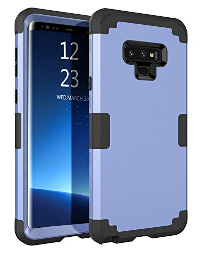 BENTOBEN Case Samsung Galaxy Note 9,Full Body Shockproof Impact Resistant 3 in 1 Hybrid Hard PC Outer Shell Soft Silicone Anti-Scratch Protective Phone Case Cover Samsung Galaxy Note 9, Blue/Black