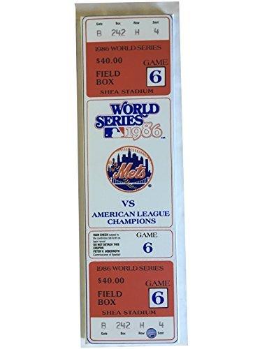 New York Mets World Series 1986 game 6 Mega ticket stub canvas Buckner Wilson