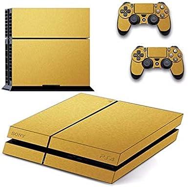 ADATECH VINILO compataible con Playstation 4 Vinilo Oro pegatina para consola y dos mandos.: Amazon.es: Videojuegos