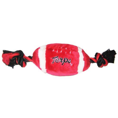 NCAA Plush Football Dog Toy, Small, University of Maryland Terrapins