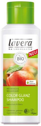 lavera Color Glanz Shampoo Bio Mango - Haarpflege für coloriertes und getöntes Haar 4er Pack (4 x 200 ml)