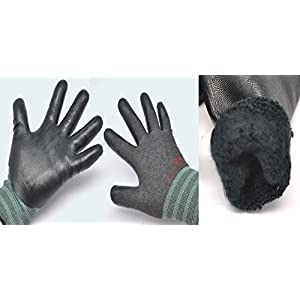 3M Warm Winter Gloves_SuperGrip, Insulated Work gloves, 3 Pairs Pack (Medium)