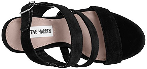 Steve Madden Glam, Scarpe Col Tacco Punta Aperta Donna Nero