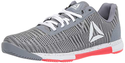 Reebok Women's Speed TR FLEXWEAVE, Cold Grey/White/neon red, 7 M ()