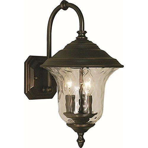 Framburg Lighting 1220 SBR Hartford Traditional Wall Mount Three Light Wall Sconce In Siena Bronze With Clear Glass - Framburg Traditional Sconce