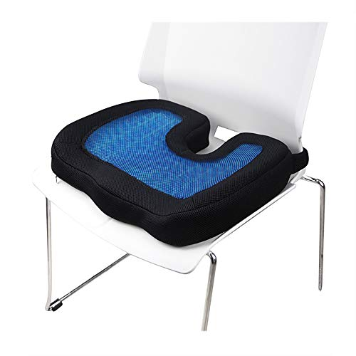 ZHANGZHIYUA Memory Seat Cushion/Back Cushion Combo, Gel Infused & Ventilated, Orthopedic Design. Perfect for Office Chair, Relieves Back, Coccyx, Sciatica,1 by ZHANGZHIYUA (Image #1)