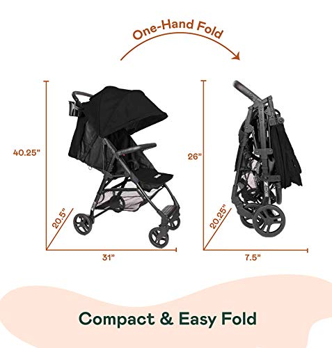 41gfagoPYIL - The Tour+ (Zoe XL1) - Best Everyday Single Stroller With Umbrella - Tandem Capable - UPF 50+ - Lightweight