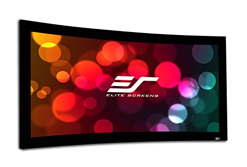 Elite Screens Lunette 2 Series, 120-inch Diagonal 16:9, Curved Home Theater Fixed Frame Projector Screen, CURVE120WH2 ()