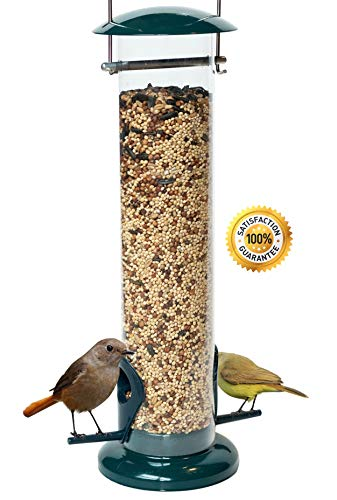 Dawn of Pets Bird Feeder for Outside, Weather Proof, Hanging, Easy to Setup, Durable,, Tube Bird Feeder for Outdoors