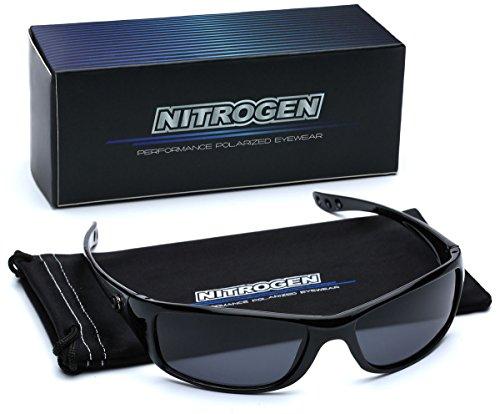 Small Polarized Sport Fishing Driving Running Sunglasses - Black & Gray