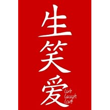 Live Laugh Love - Red Lined Notebook with Margins: 101 Pages, Medium Ruled, 6 x 9 Journal, Soft Cover