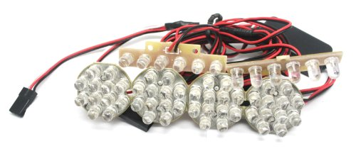 GT Power Large 1/8 to 1/5 Scale Bright LED Kit Off-Road Lighting System -