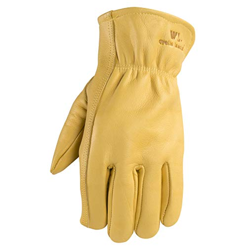 Wells Lamont Men's Leather Work Gloves, Medium (1129M)