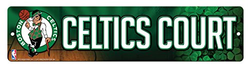 Rico NBA Boston Celtics 16-Inch Plastic Street Sign Décor